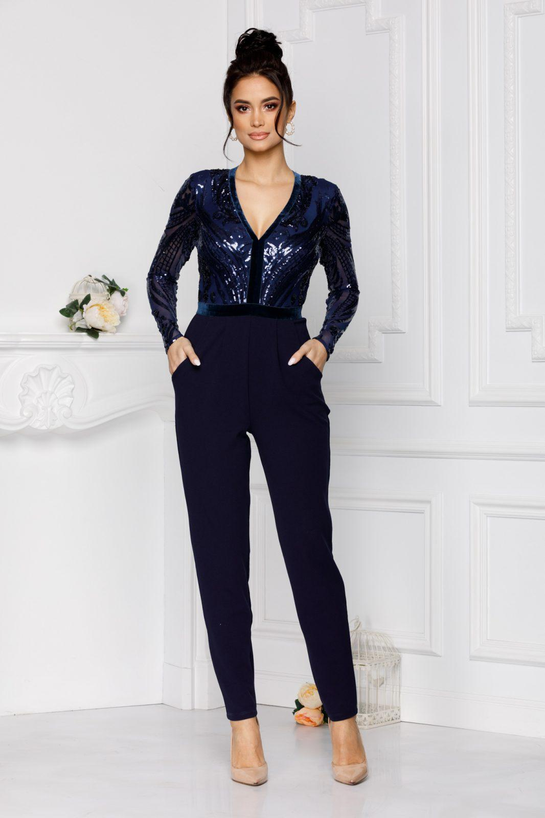 Xarra Navy Blue Jumpsuit