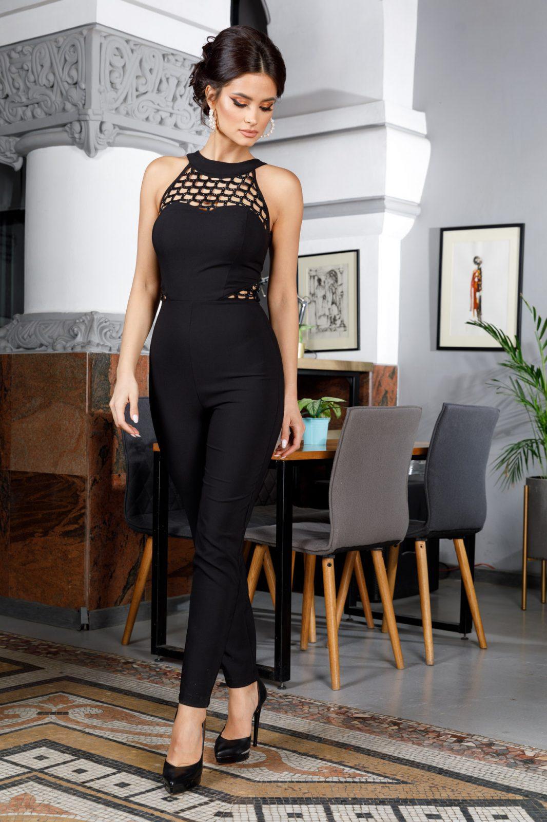 Aimee Μαύρη Ολόσωμη Φόρμα 5975