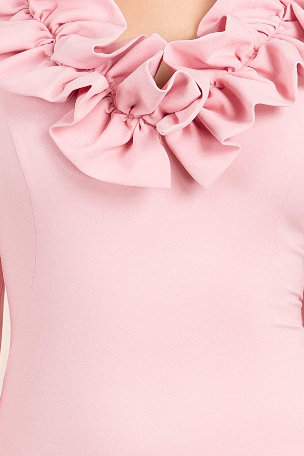 Eva Midi Ροζ Φόρεμα 7075