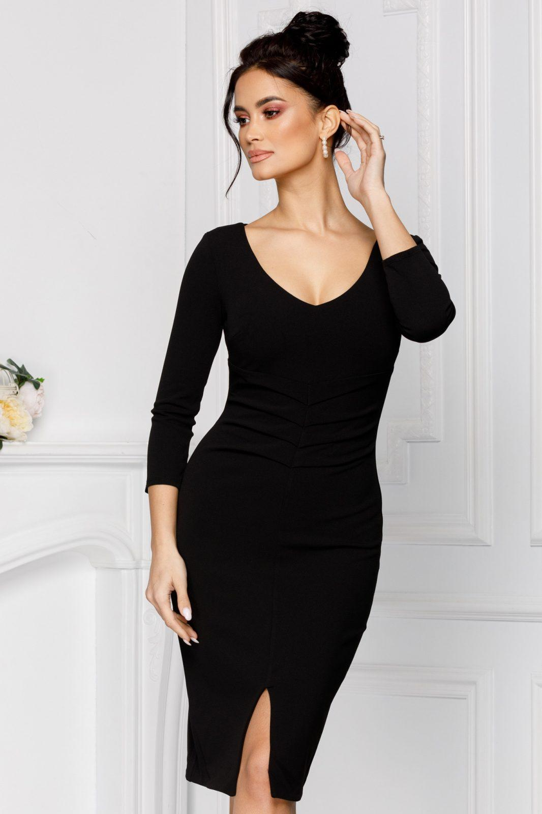 Linette Μαύρο Φόρεμα 7053