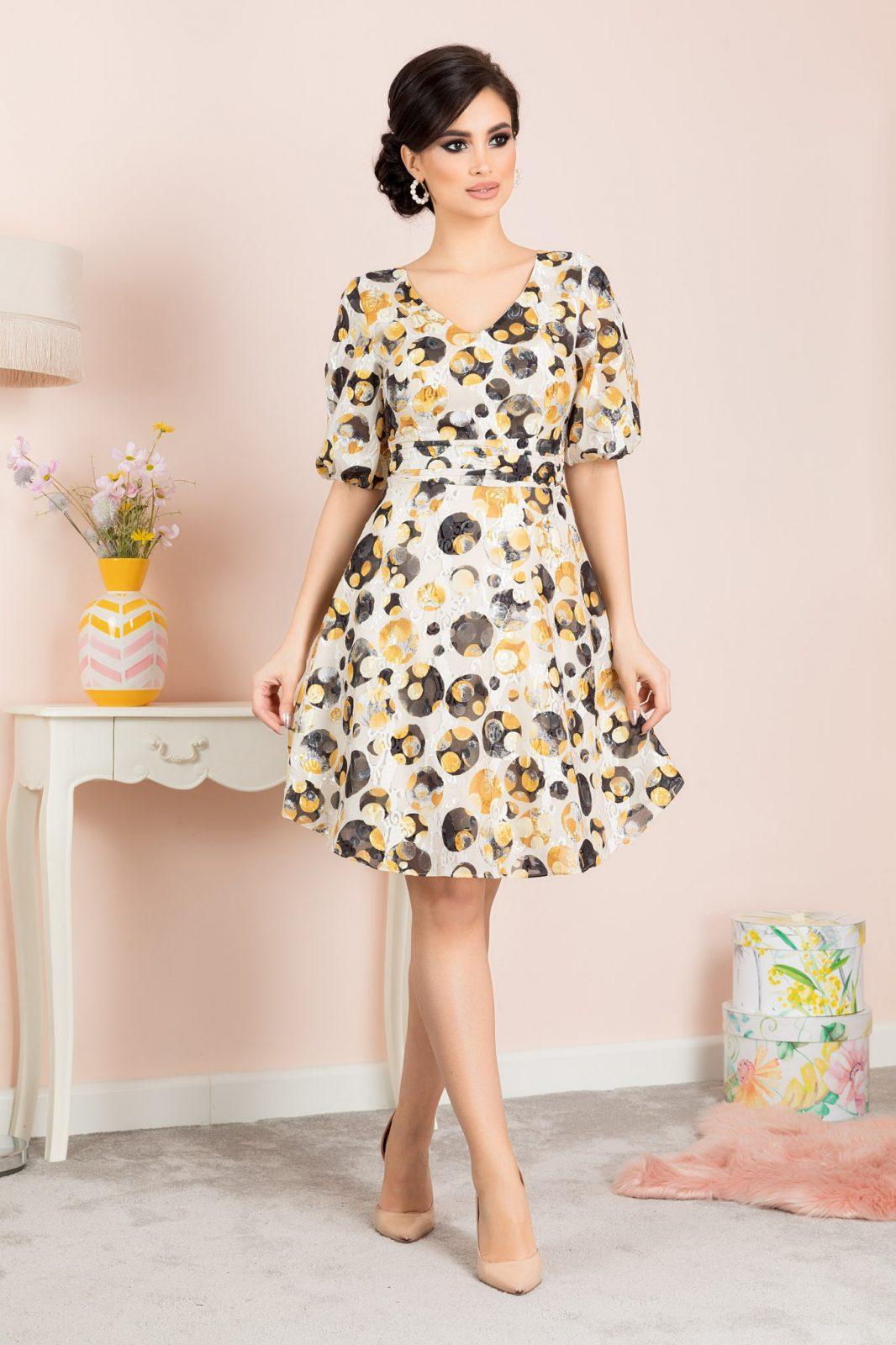 Raven Κίτρινο Φόρεμα 7092