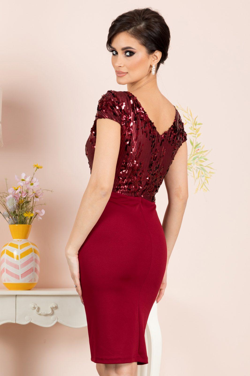 Viviane Μπορντό Φόρεμα 7170 3