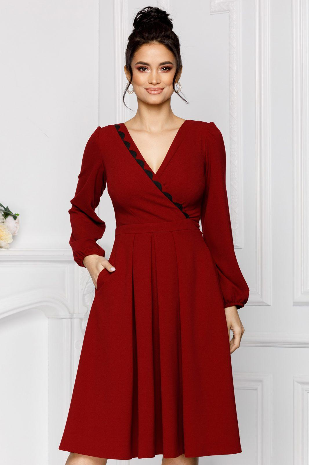Moze Dora Burgundy Dress