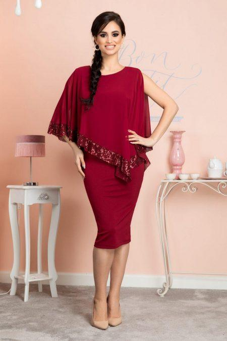 Kalya Burgundy Dress