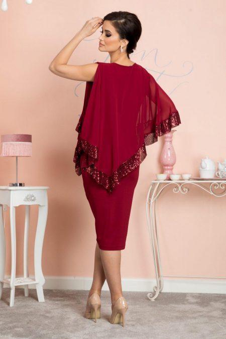Μπορντό Φόρεμα Kalya 7126
