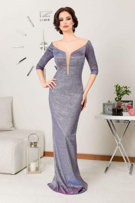 Natalie Silver Dress