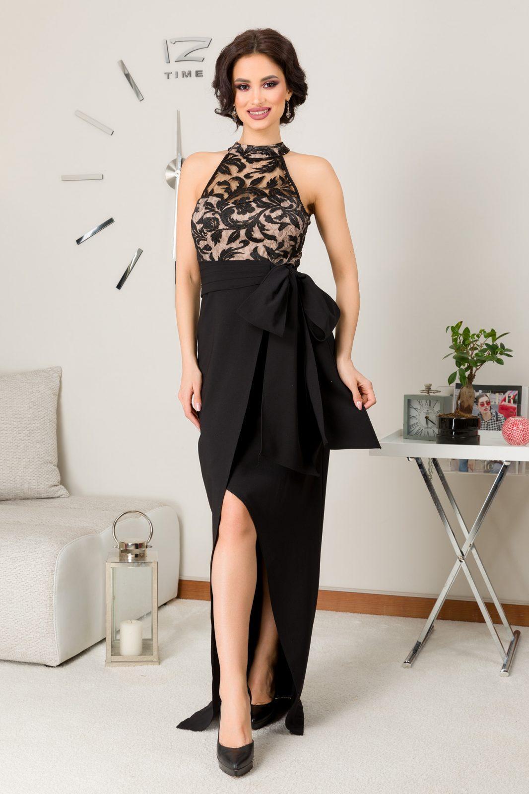 Spectacullar Maxi Μαύρο Φόρεμα 7257