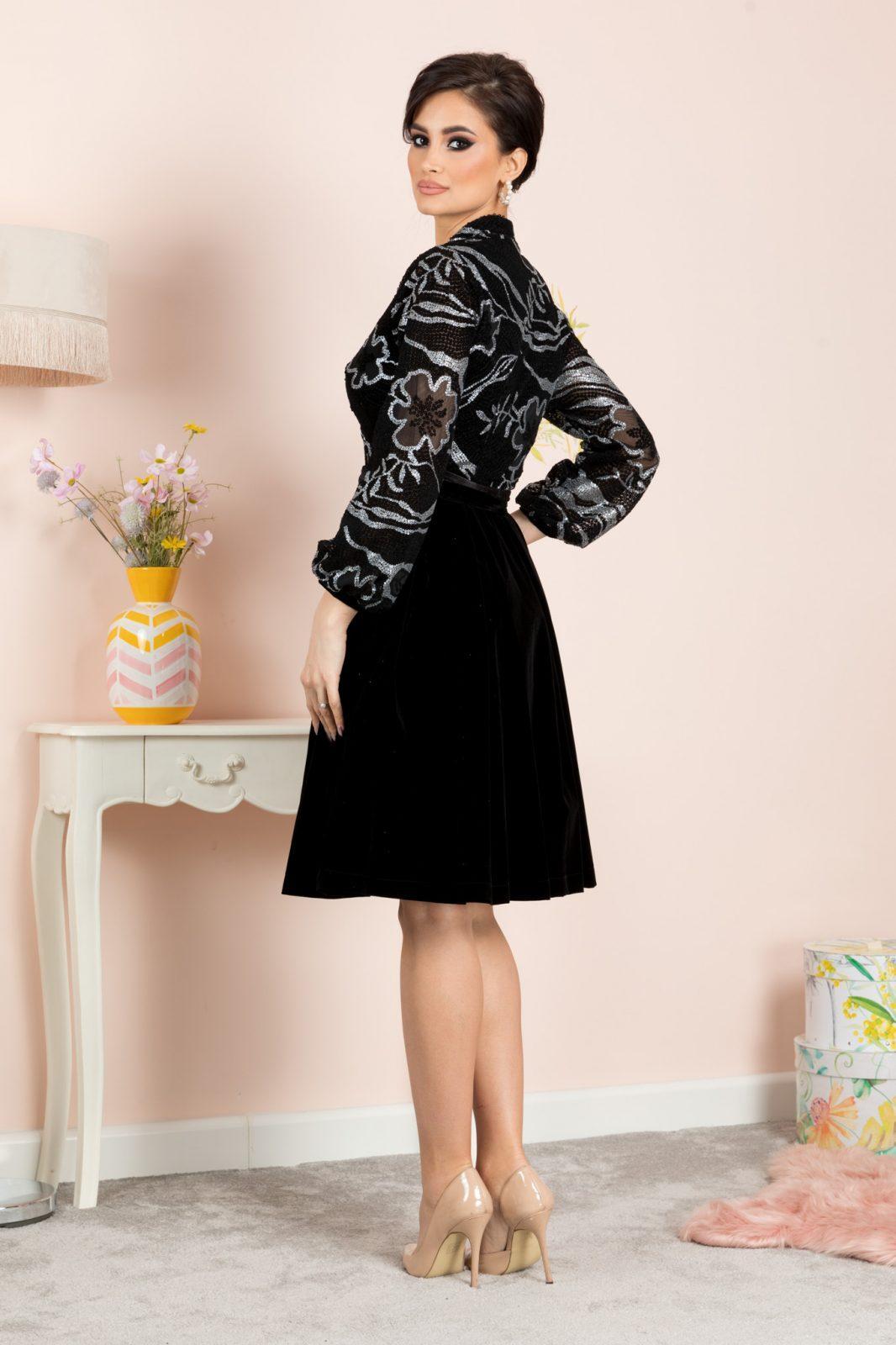 Μαύρο Βραδινό Φόρεμα Dyana 7136 4