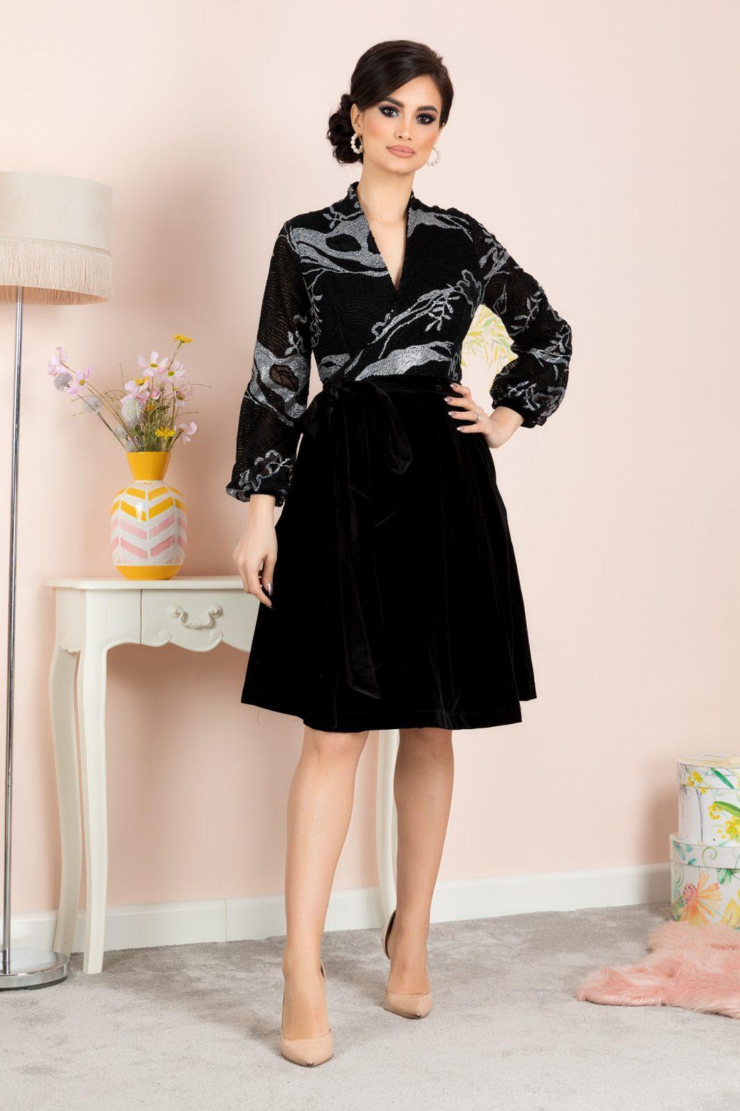 Μαύρο Βραδινό Φόρεμα Dyana 7136 3