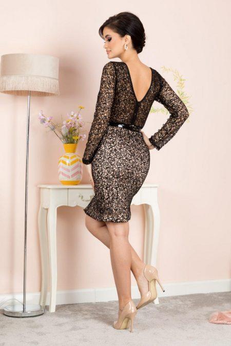 Μαύρο Βραδινό Φόρεμα Jewel 7157
