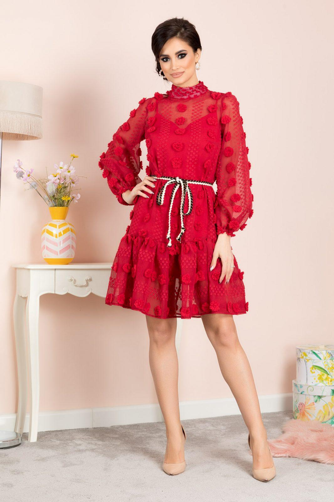 Yadira Κόκκινο Φόρεμα 7119