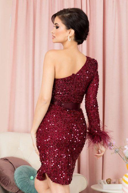 Karolyne Μπορντό Φόρεμα 7082