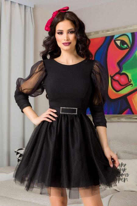 Athena Black Dress