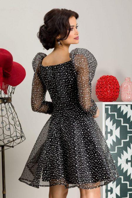 Daisy Μαύρο Φόρεμα 7254