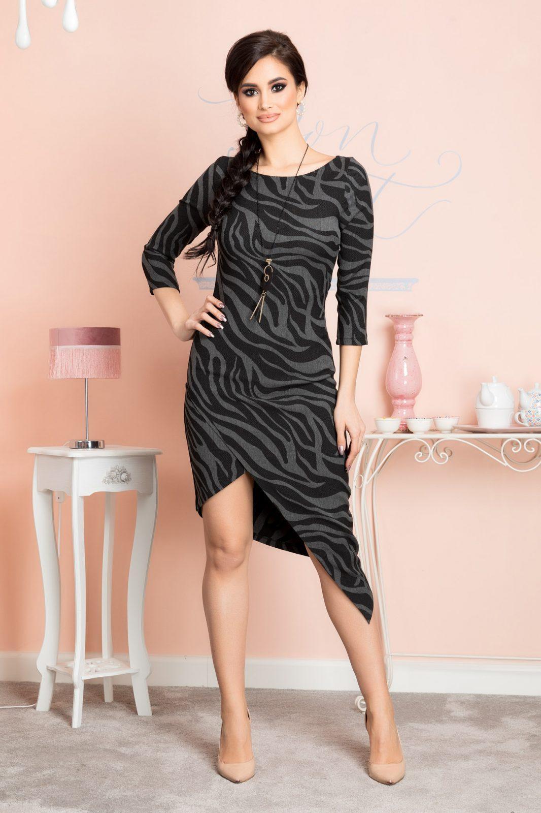 Μαύρο Φόρεμα Bridget 7153 4