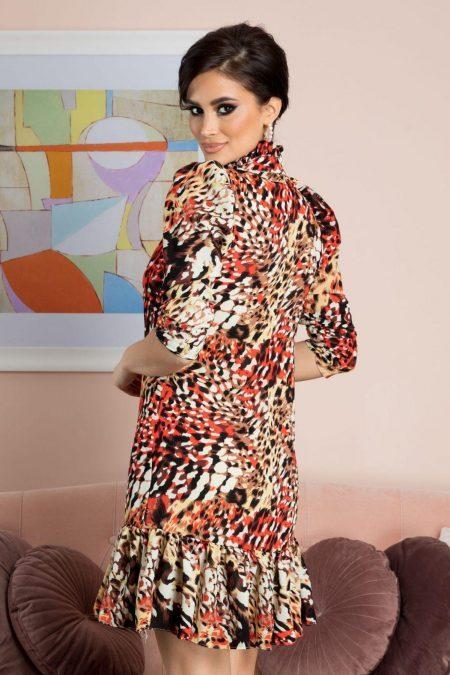 Εμπριμέ Φόρεμα Angie 7147