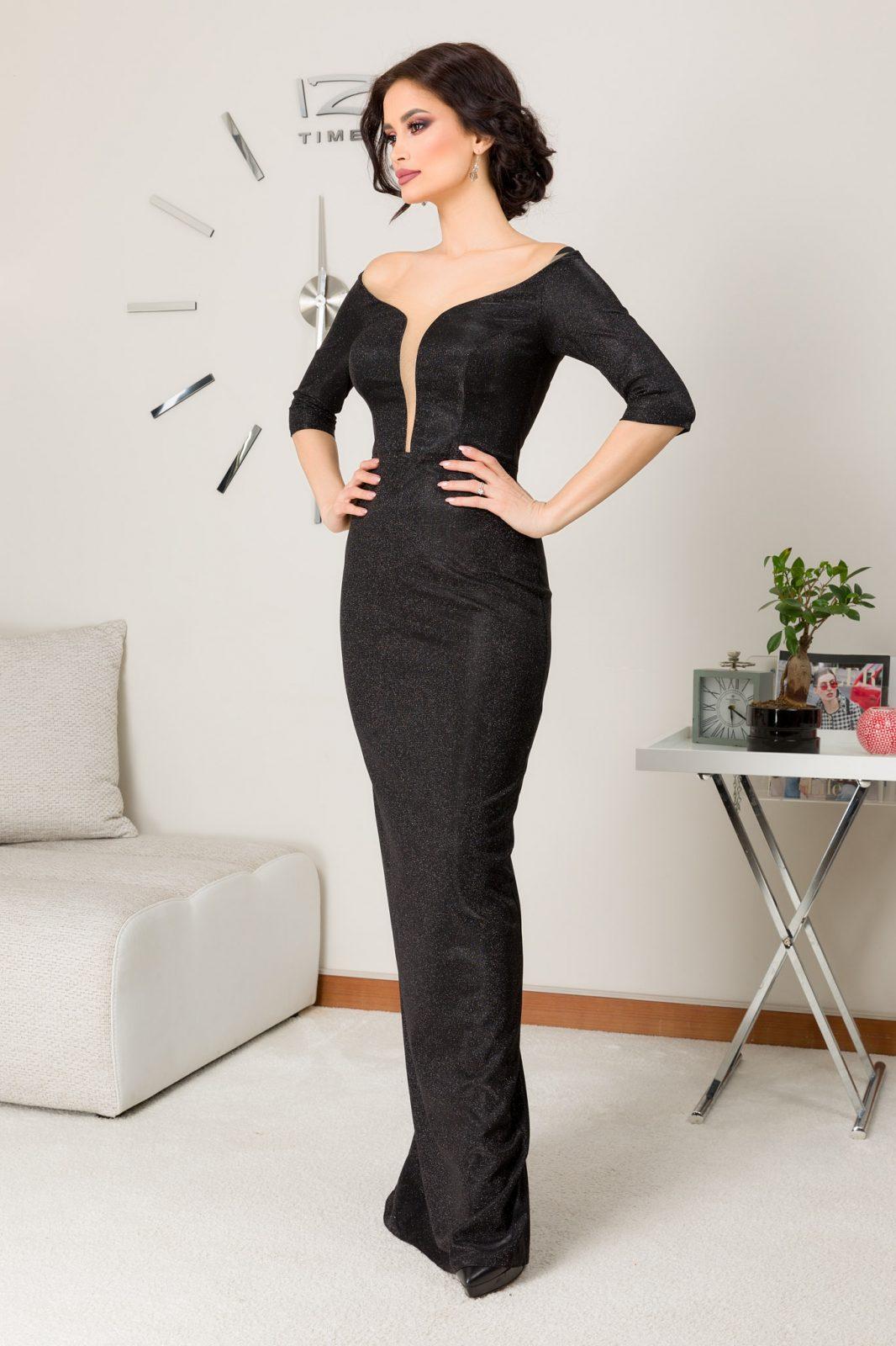 Natalie Maxi Μαύρο Φόρεμα 7255