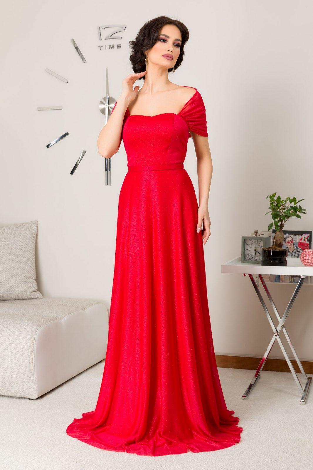 Magnifique Maxi Κόκκινο Φόρεμα 7223