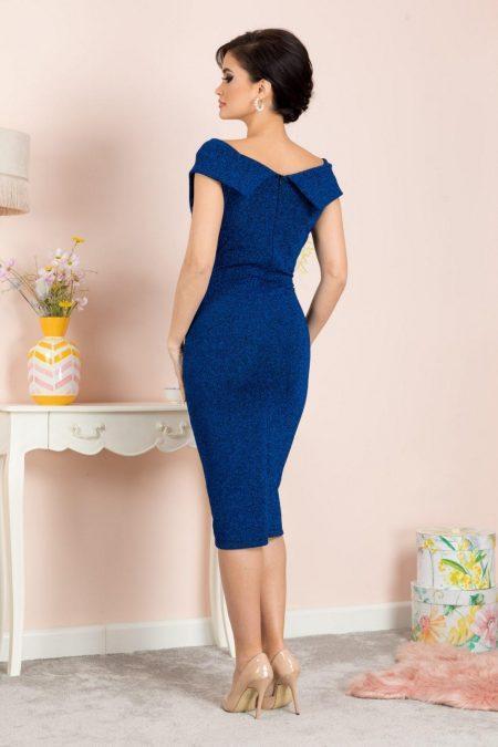 Penelope Midi Μπλε Φόρεμα 7130