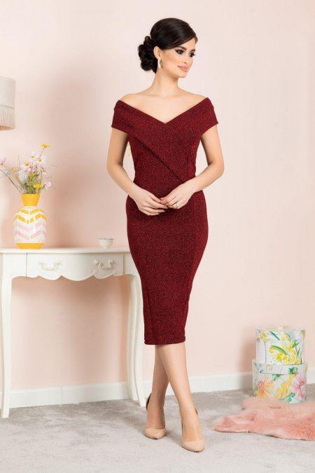Penelope Μπορντό Φόρεμα 7127