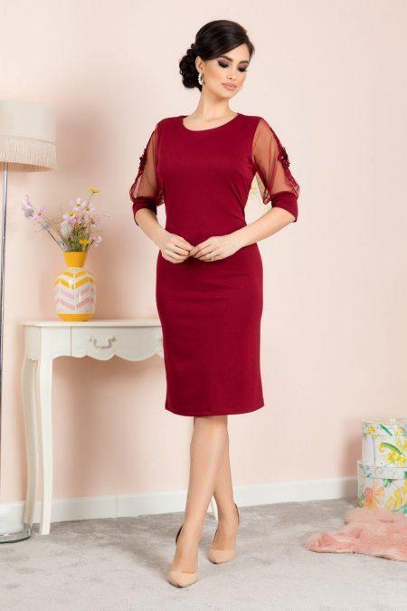 Tisha Μπορντό Φόρεμα 7125