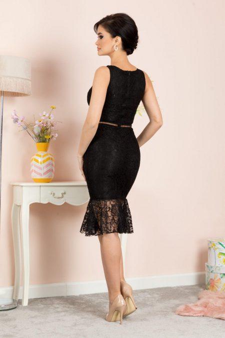 Amore Midi Μαύρο Φόρεμα 7143