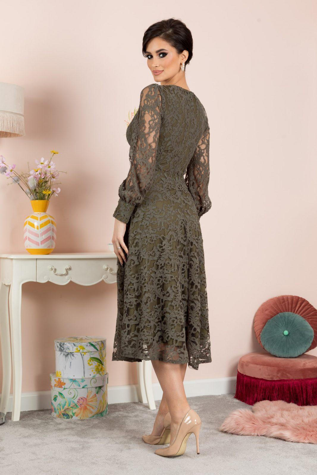 Aprill Χακί Φόρεμα 7080
