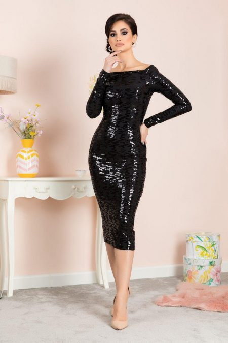 Aubrey Black Dress