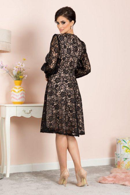 Aprill Midi Μαύρο Φόρεμα 7148