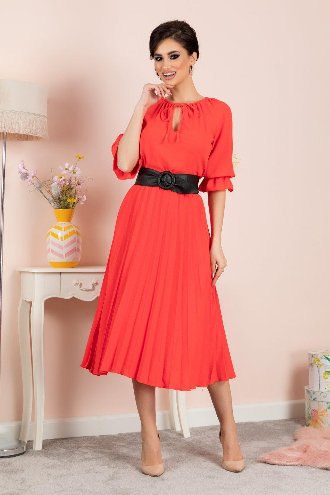 Clarissa Coral Dress