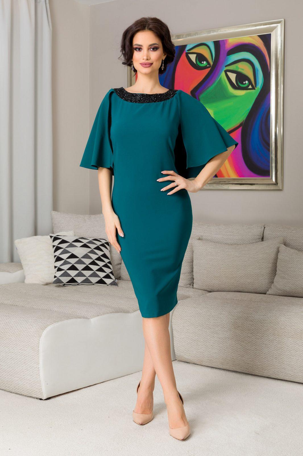 Hermione Midi Πράσινο Φόρεμα 7213