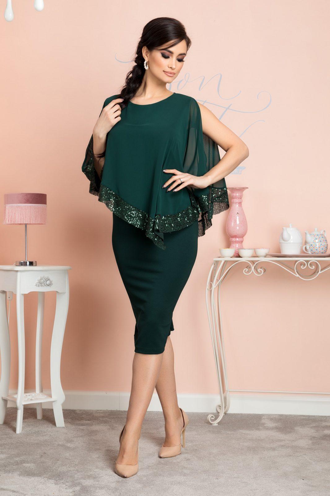 Πράσινο Φόρεμα Kalya 7129