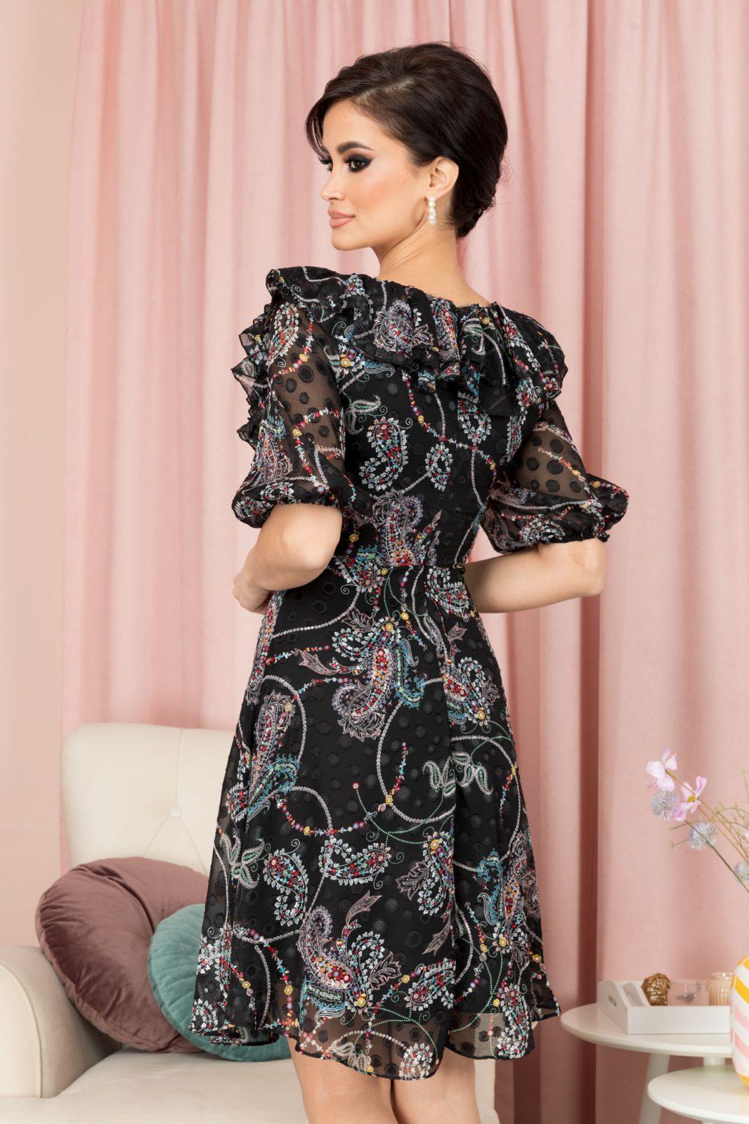Leona Μαύρο Φόρεμα 7110