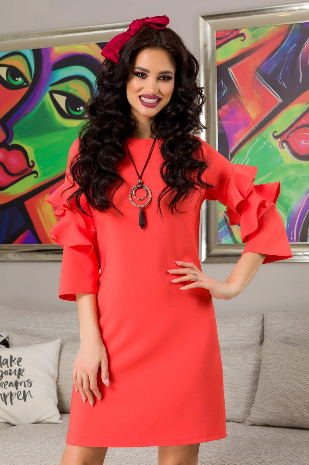 Hanna Coral Dress