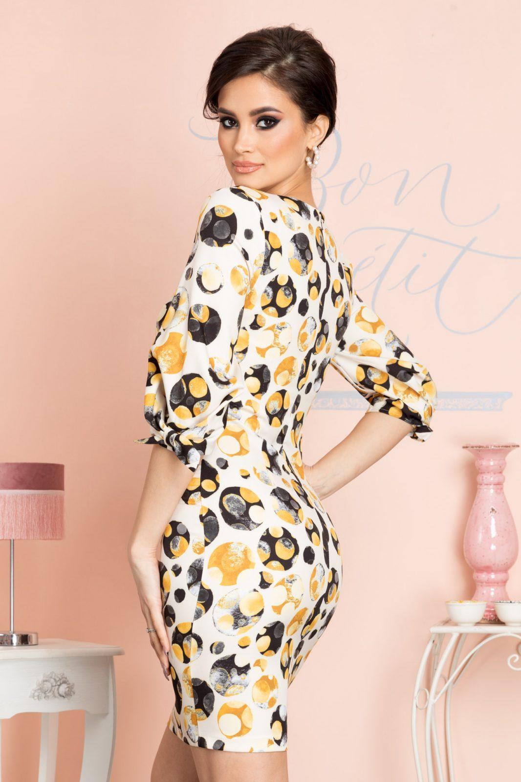 Gemma Κίτρινο Φόρεμα 7096 1