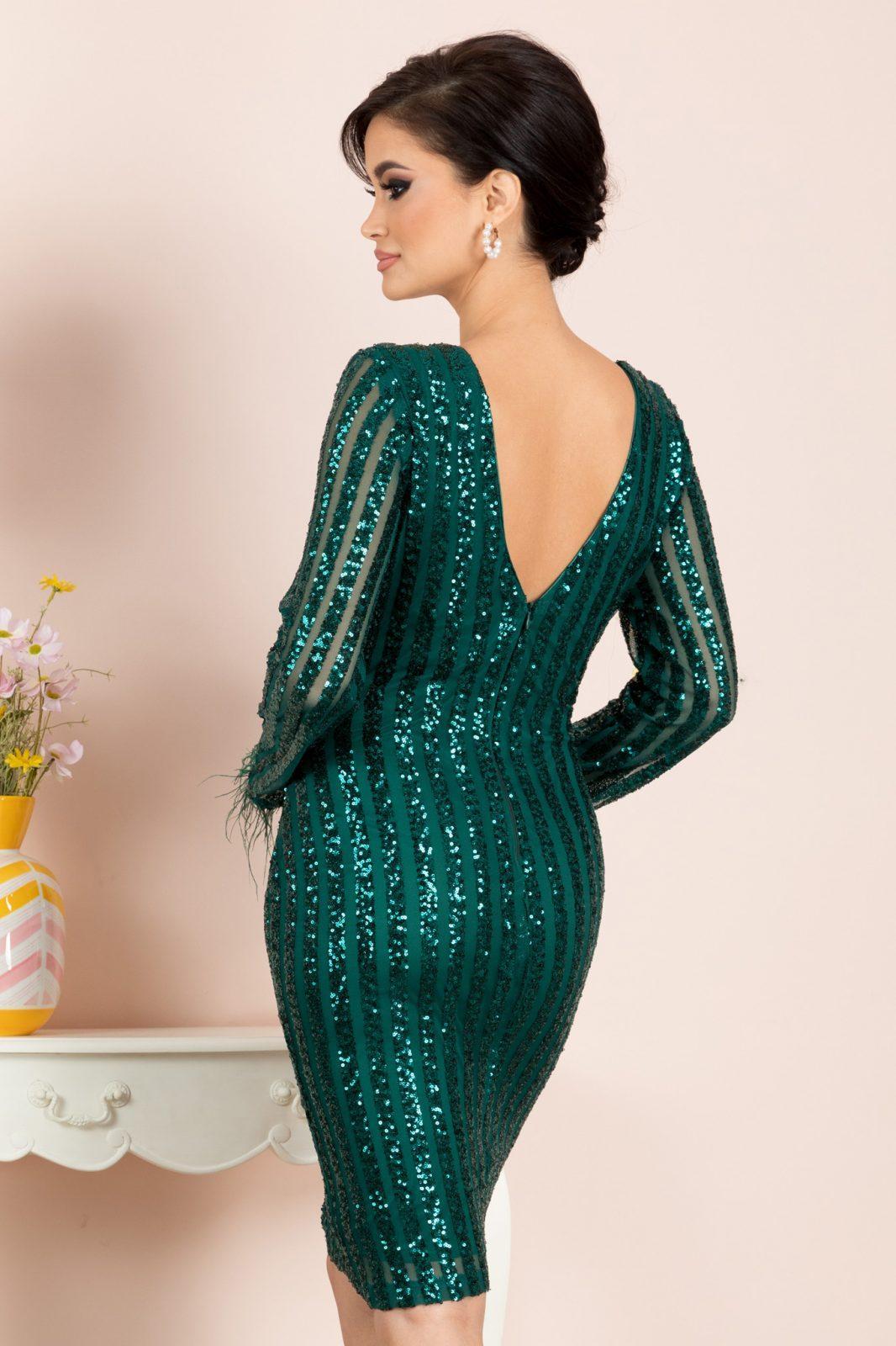 Ranya Midi Πράσινο Φόρεμα 7083