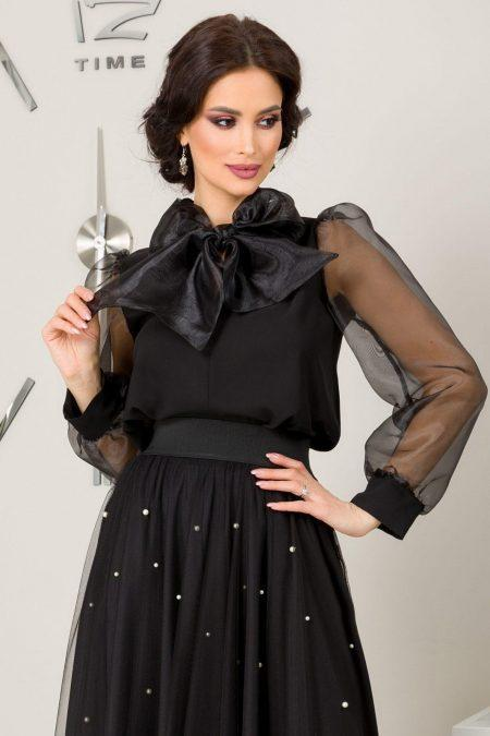 Alya Black Blouse