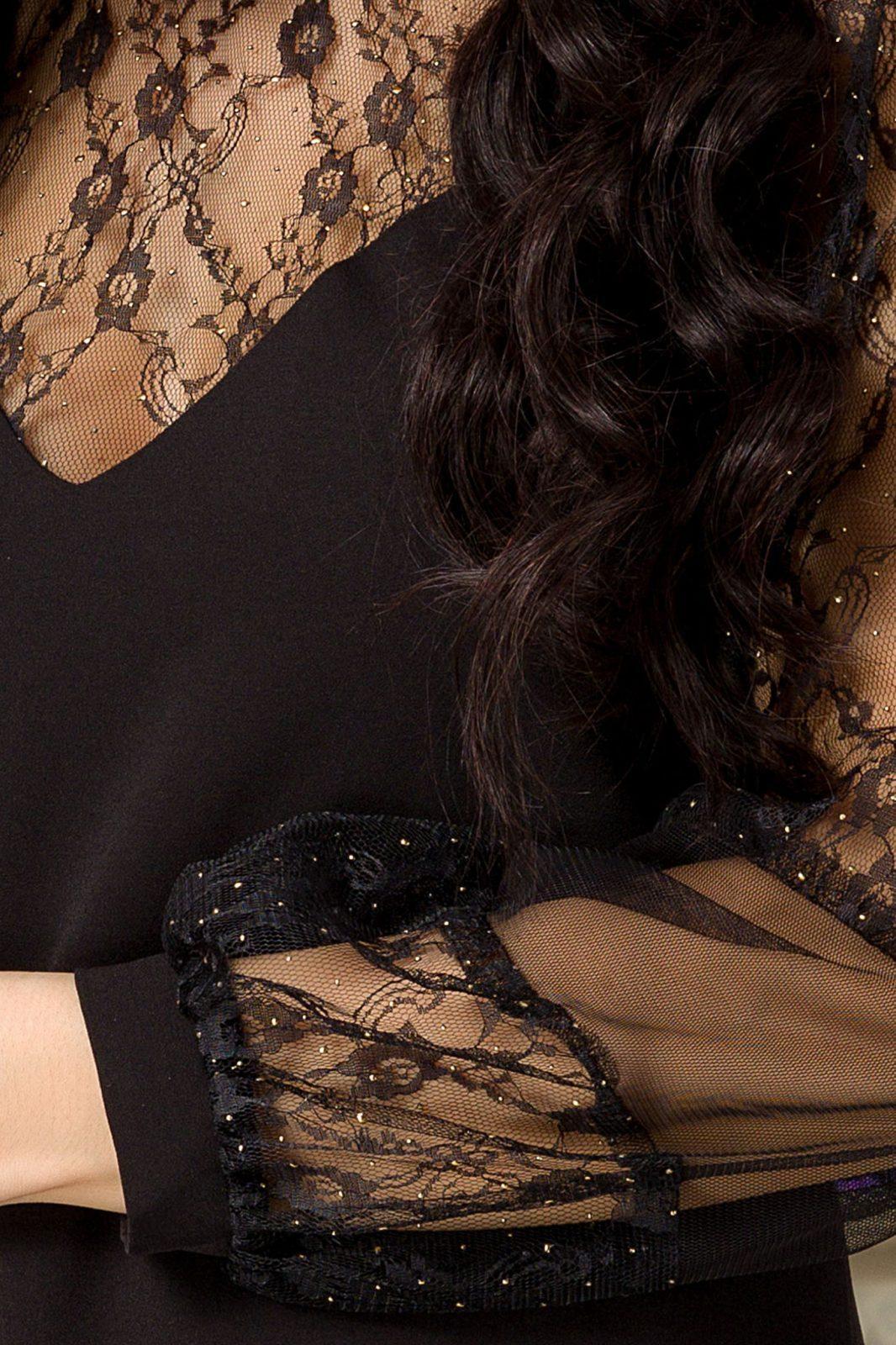 Moze Carissa Μαύρο Φόρεμα 7246