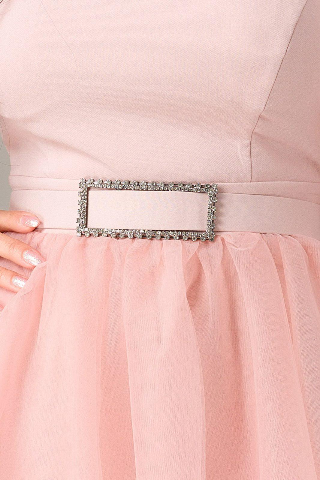 Ροζ Μίνι Φόρεμα Athena 7228