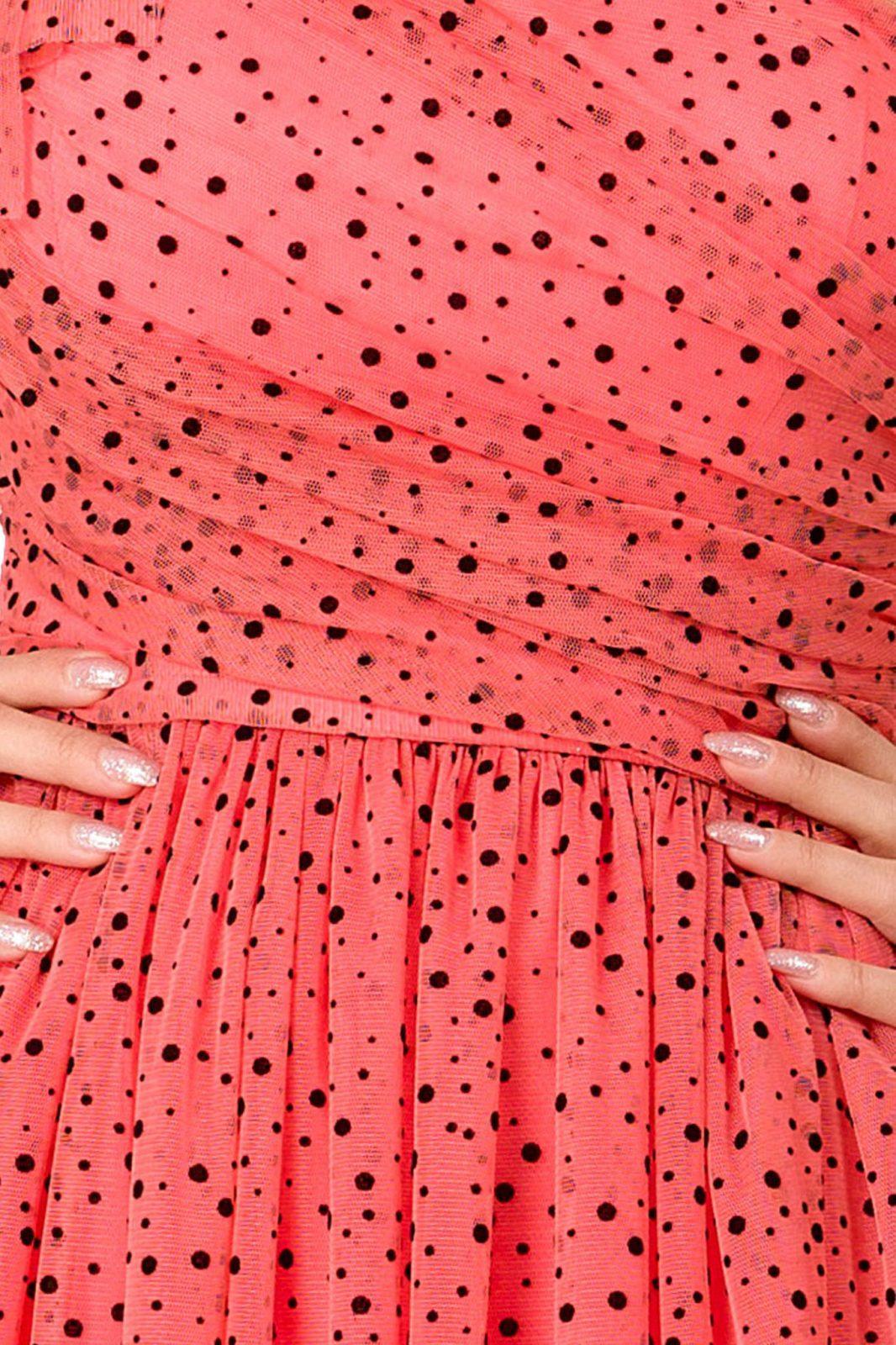 Quinn Maxi Κοραλί Φόρεμα 7237