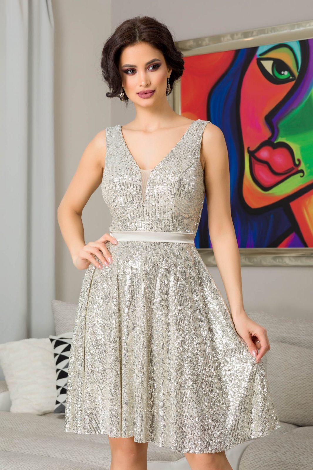 Bianca Nude Βραδινό Φόρεμα 7311 2
