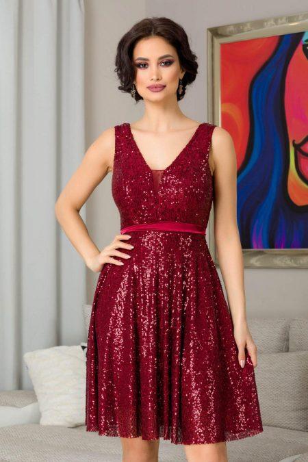 Bianca Burgundy Dress