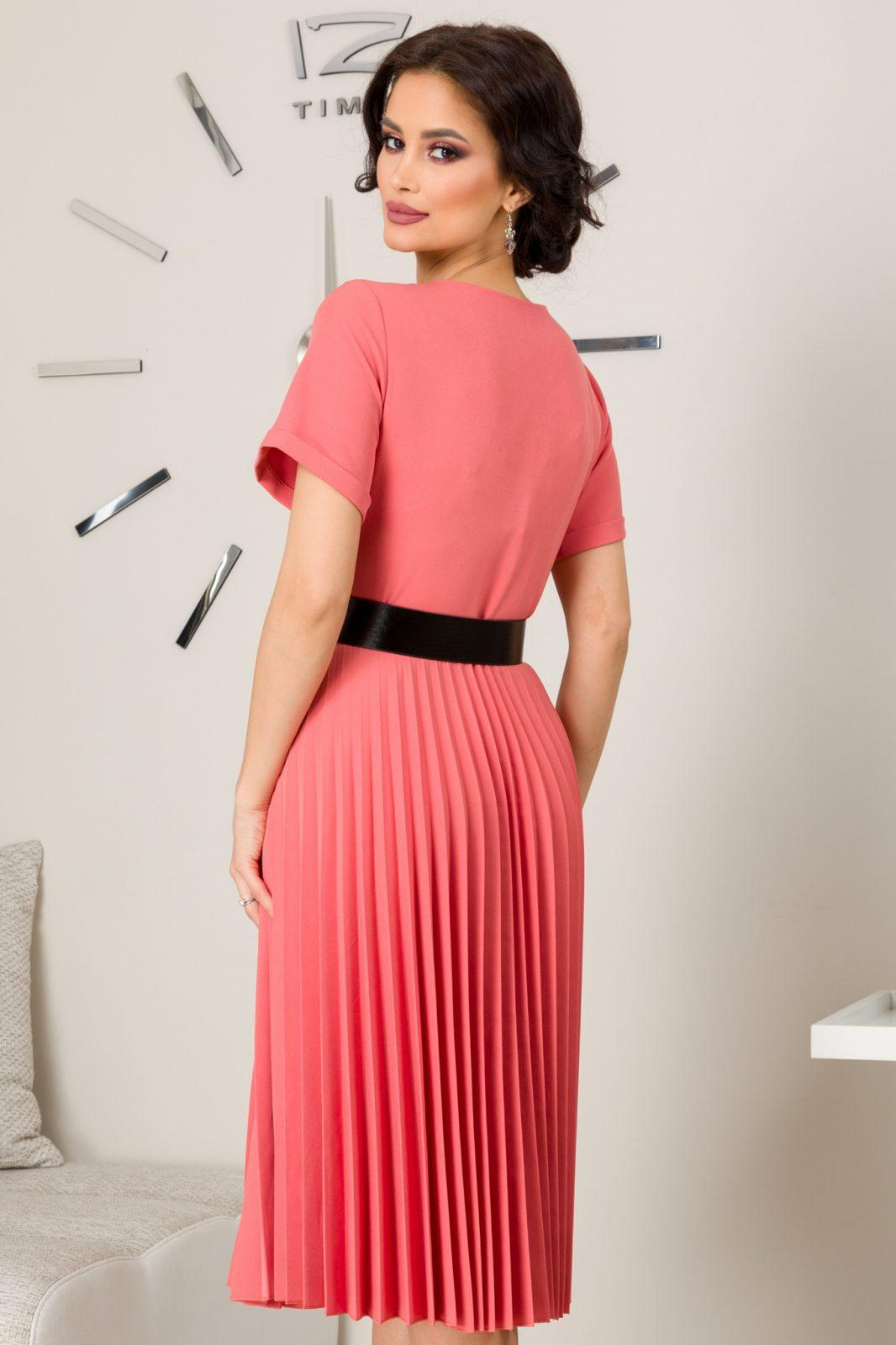 Jocelyn Ροδακινί Φόρεμα 7287