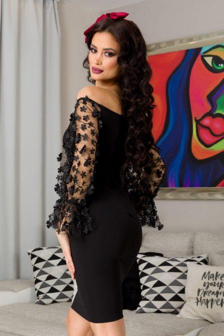 Aliona Μαύρο Φόρεμα 7249