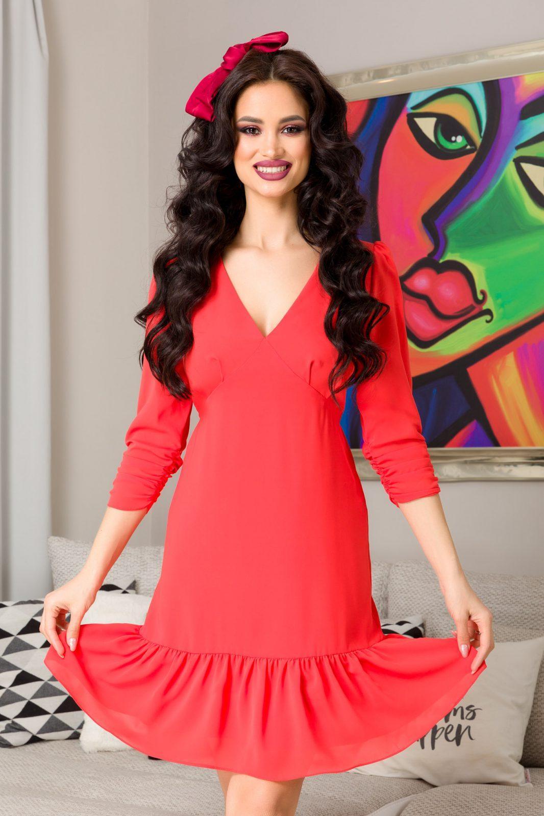 Josephine Coral Dress