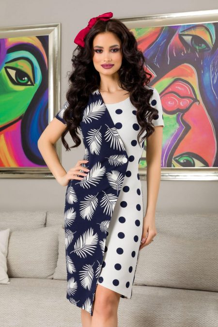 Rosaly Navy Dress