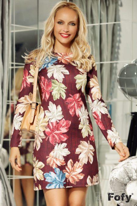 Ella Burgundy Dress