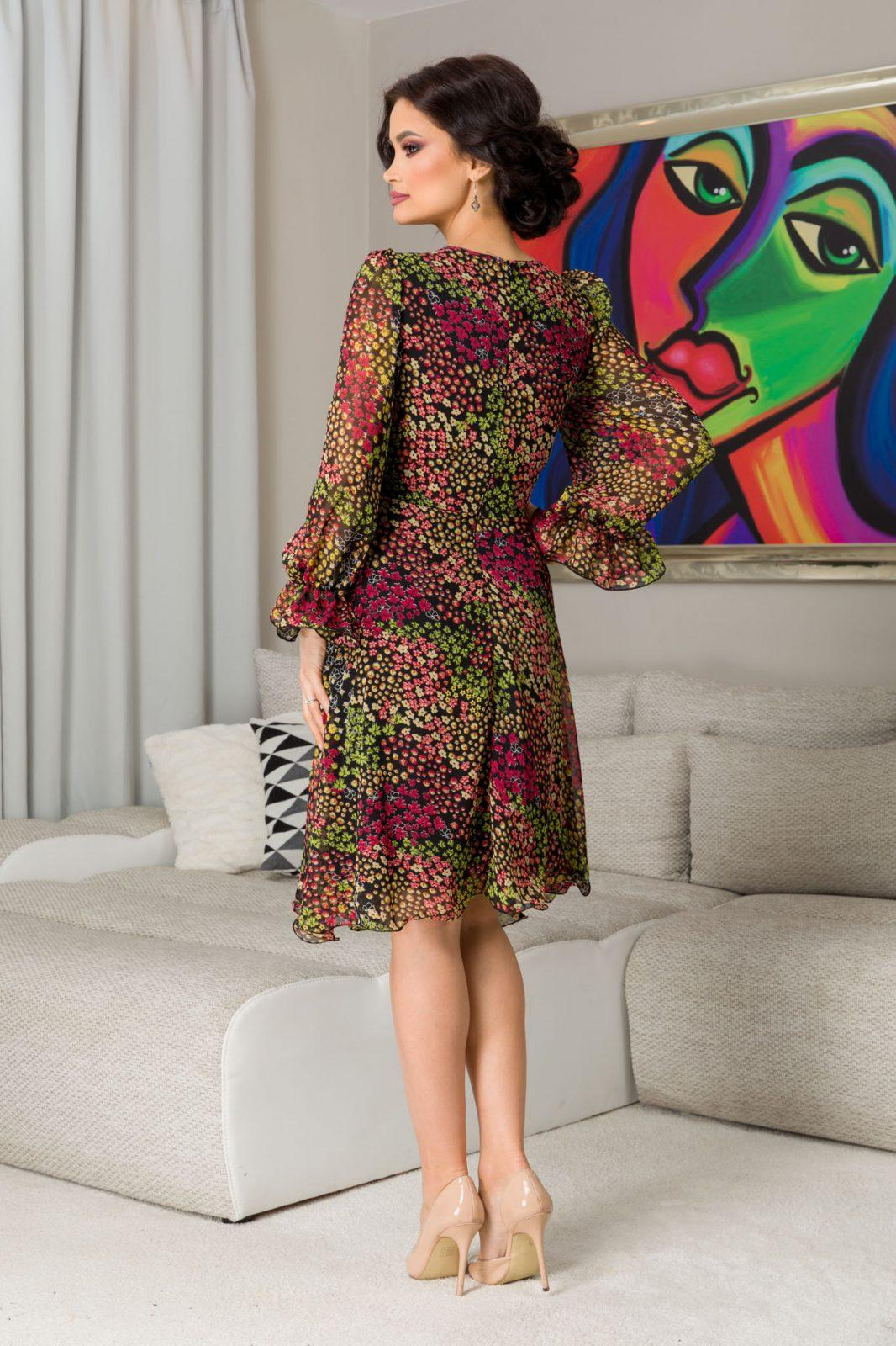 Εμπριμέ Φόρεμα Μίντι Simine 7281 2