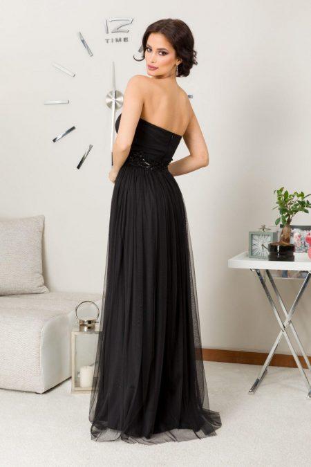 Belissima Maxi Μαύρο Φόρεμα 7235
