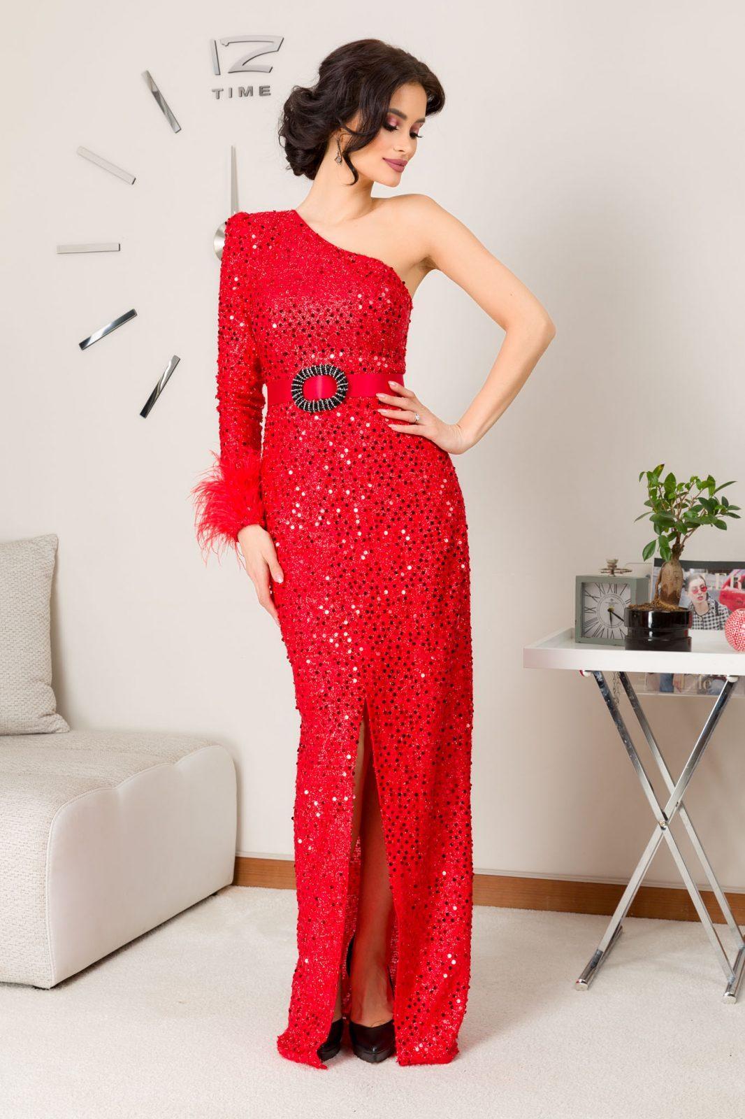 Diora Maxi Κόκκινο Φόρεμα 7244